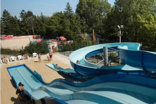 Waterslide camping alpes dauphiné